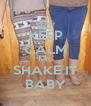KEEP CALM AND SHAKE IT BABY - Personalised Poster A4 size