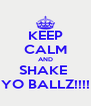 KEEP CALM AND SHAKE  YO BALLZ!!!! - Personalised Poster A4 size