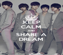 KEEP CALM AND SHARE A DREAM - Personalised Poster A4 size
