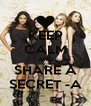 KEEP CALM AND SHARE A SECRET -A - Personalised Poster A4 size