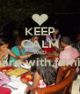 KEEP CALM AND Share with family  - Personalised Poster A4 size