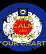 KEEP CALM AND SHARE YOUR CHARTS - Personalised Poster A4 size