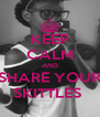 KEEP CALM AND SHARE YOUR SKITTLES  - Personalised Poster A4 size