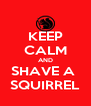 KEEP CALM AND SHAVE A  SQUIRREL - Personalised Poster A4 size