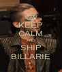 KEEP CALM AND SHIP BILLARIE - Personalised Poster A4 size