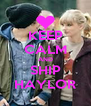KEEP CALM AND SHIP HAYLOR - Personalised Poster A4 size