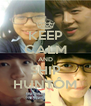 KEEP CALM AND SHIP HUNTÔM - Personalised Poster A4 size