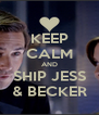 KEEP CALM AND SHIP JESS & BECKER - Personalised Poster A4 size