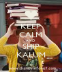 KEEP CALM AND SHIP KALUM - Personalised Poster A4 size
