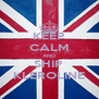 KEEP CALM AND SHIP  KLEROLINE - Personalised Poster A4 size