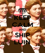 KEEP CALM AND SHIP LUIN - Personalised Poster A4 size