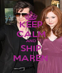 KEEP CALM AND SHIP MAREN - Personalised Poster A4 size
