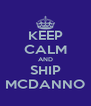 KEEP CALM AND SHIP MCDANNO - Personalised Poster A4 size