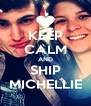 KEEP CALM AND SHIP MICHELLIE - Personalised Poster A4 size
