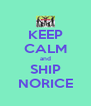 KEEP CALM and SHIP NORICE - Personalised Poster A4 size