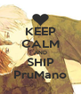 KEEP CALM AND SHIP PruMano - Personalised Poster A4 size