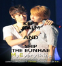 KEEP CALM AND SHIP THE EUNHAE - Personalised Poster A4 size