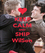 KEEP CALM AND SHIP WilSon - Personalised Poster A4 size
