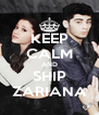 KEEP CALM AND SHIP ZARIANA - Personalised Poster A4 size