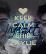 KEEP CALM AND SHIP ZAYLIE - Personalised Poster A4 size
