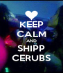 KEEP CALM AND SHIPP CERUBS - Personalised Poster A4 size