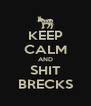 KEEP CALM AND SHIT BRECKS - Personalised Poster A4 size