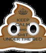 KEEP CALM AND SHIT UNDER THE BED - Personalised Poster A4 size