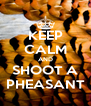 KEEP CALM AND SHOOT A PHEASANT - Personalised Poster A4 size