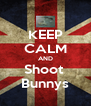 KEEP CALM AND Shoot  Bunnys - Personalised Poster A4 size