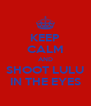 KEEP CALM AND SHOOT LULU IN THE EYES - Personalised Poster A4 size