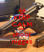 KEEP CALM AND shoot niggas - Personalised Poster A4 size