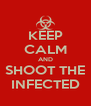 KEEP CALM AND SHOOT THE INFECTED - Personalised Poster A4 size