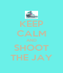 KEEP CALM AND SHOOT THE JAY - Personalised Poster A4 size