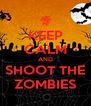 KEEP CALM AND SHOOT THE ZOMBIES - Personalised Poster A4 size