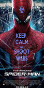 KEEP  CALM AND SHOOT WEBS - Personalised Poster A4 size
