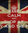 KEEP CALM AND SHOP AT LADY AND THE PUNK - Personalised Poster A4 size