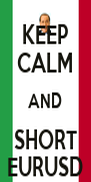 KEEP CALM AND SHORT EURUSD - Personalised Poster A4 size