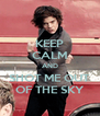 KEEP CALM AND SHOT ME OUT OF THE SKY - Personalised Poster A4 size