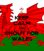 KEEP CALM AND SHOUT FOR WALES - Personalised Poster A4 size