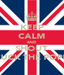 KEEP CALM AND SHOUT FUCK THE POPE - Personalised Poster A4 size