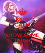 KEEP CALM AND SHOW SOME THIGH - Personalised Poster A4 size