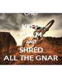 KEEP CALM AND SHRED ALL THE GNAR - Personalised Poster A4 size