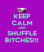 KEEP CALM AND SHUFFLE BITCHES!!! - Personalised Poster A4 size