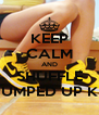 KEEP CALM AND SHUFFLE TO PUMPED UP KICKS - Personalised Poster A4 size
