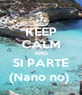 KEEP CALM AND SI PARTE (Nano no)  - Personalised Poster A4 size