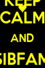 KEEP CALM AND SIBFAM ON - Personalised Poster A4 size