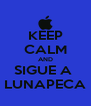 KEEP CALM AND SIGUE A  LUNAPECA - Personalised Poster A4 size