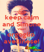 keep calm and Simone Vietri orgoglio  avellinese! - Personalised Poster A4 size