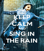 KEEP CALM AND SING IN THE RAIN - Personalised Poster A4 size