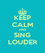 KEEP CALM AND SING LOUDER - Personalised Poster A4 size